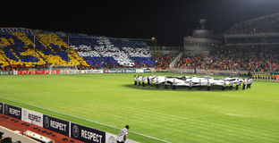 Champions league game, Apoel stock photography