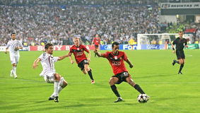 Champions League soccer match Stock Images