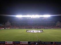 Champions League-Spiel Lizenzfreies Stockfoto