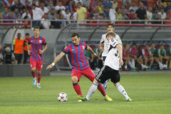 Champions League: Steaua Bucharest - Legia Warsaw. Steaua's Adrian Cristea pictured in action during the UEFA Champions League play offs game between Steaua Stock Image