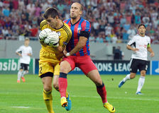 CHAMPIONS LEAGUE: STEAUA BUCHAREST-LEGIA WARSAW Royalty Free Stock Photography