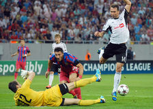 CHAMPIONS LEAGUE: STEAUA BUCHAREST-LEGIA WARSAW Royalty Free Stock Images