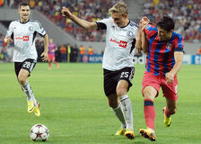 CHAMPIONS LEAGUE: STEAUA BUCHAREST-LEGIA WARSAW Royalty Free Stock Photos