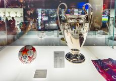 Champions League trophy, Camp Nou Museum, Barcelona, Catalonia, royalty free stock photos