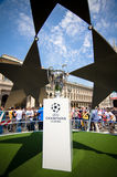 Champions League trophy cup 2016 Royalty Free Stock Photo