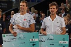 Champions Lukasz Kubot (POL) and Edouard Roger-Vasselin (FRA) Royalty Free Stock Photos