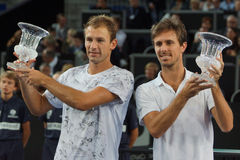 Champions Lukasz Kubot (POL) and Edouard Roger-Vasselin (FRA) Royalty Free Stock Images