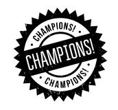 Champions Rubber Stamp Royalty Free Stock Photo