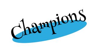 Champions rubber stamp. Grunge design with dust scratches. Effects can be easily removed for a clean, crisp look. Color is easily changed Royalty Free Stock Photos
