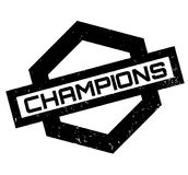 Champions rubber stamp. Grunge design with dust scratches. Effects can be easily removed for a clean, crisp look. Color is easily changed Stock Images