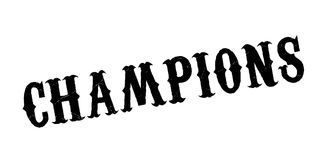 Champions rubber stamp. Grunge design with dust scratches. Effects can be easily removed for a clean, crisp look. Color is easily changed Royalty Free Stock Photo