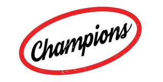 Champions rubber stamp. Grunge design with dust scratches. Effects can be easily removed for a clean, crisp look. Color is easily changed Royalty Free Stock Images