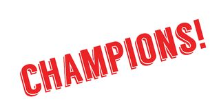 Champions rubber stamp Royalty Free Stock Photography