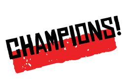 Champions sticker stamp Royalty Free Stock Images