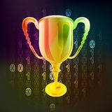 Champions win in binary internet space vector Stock Images