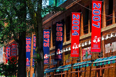 Championship Banners Fenway Park Royalty Free Stock Photos