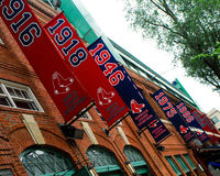 Championship Banners at Fenway Park Royalty Free Stock Photos