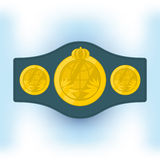 Championship belt. Belt champion boxer. vector format Stock Images