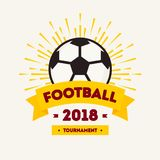 Championship cup 2018 in Russia banner. World football cup soccer tournament background white color. Vector Illustration 10 eps Royalty Free Stock Photo