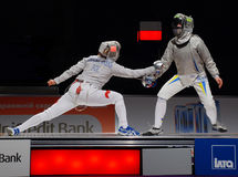 Championship of Europe on fencing Royalty Free Stock Image