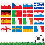 Championship Final Stage. Euro 2012 Championship Final Stage Flags Stock Photography
