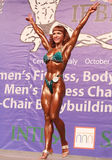 Championship Form. Croatias Zrinka Fiser wins the overall Bodyfitness title at the 2009 IFBB World Amateur Bodybuilding, Fitness, and Bodyfitness Championships Royalty Free Stock Photo