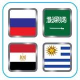 championship Futebol Bandeiras gráficas agrupe A ilustração stock