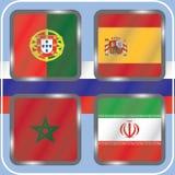 championship Futebol Bandeiras gráficas Agrupe o B ilustração royalty free