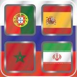 championship Futebol Bandeiras gráficas Agrupe o B ilustração stock