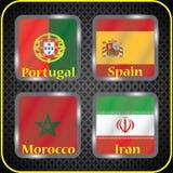 championship Futebol Bandeiras gráficas Agrupe o B ilustração do vetor