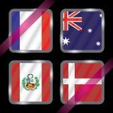 championship Futebol Bandeiras gráficas grupo C ilustração stock