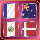championship Futebol Bandeiras gráficas grupo C ilustração do vetor