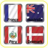 championship Futebol Bandeiras gráficas grupo C ilustração royalty free