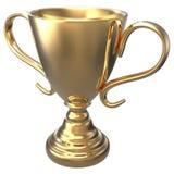Win championship gold trophy award royalty free illustration