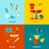 Championship Icons Flat Royalty Free Stock Photography