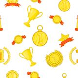 Championship pattern, cartoon style. Championship pattern. Cartoon illustration of championship vector pattern for web Royalty Free Stock Images