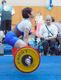 Championship of Russia on powerlifting in Moscow. Royalty Free Stock Images