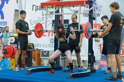 Championship of Russia on powerlifting in Moscow. Stock Photography
