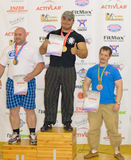 Championship of Russia on powerlifting in Moscow. Royalty Free Stock Photography