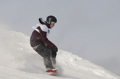 THE CHAMPIONSHIP OF RUSSIA ON A SNOWBOARD royalty free stock image