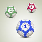 Championship Soccer Balls Stock Photos