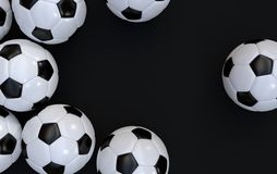 Championship soccer balls Stock Photo