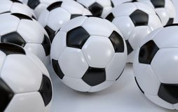 Championship soccer balls Royalty Free Stock Photography