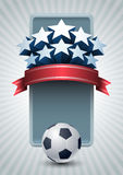 Championship soccer banner Royalty Free Stock Images
