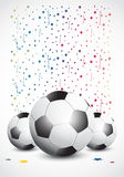 Championship Soccer Confetti Royalty Free Stock Photos