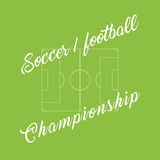 Championship soccer, football green background. Stadium line. Championship soccer, football green background. Stadium line Royalty Free Stock Photo