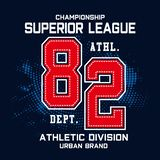 Championship sport typography design for t shirt vector illustration