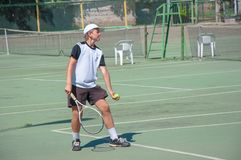 Championship tennis among Juniors Royalty Free Stock Photo