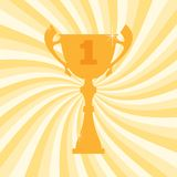 Championship winner trophy cup for first place. Vector illustration Stock Photos