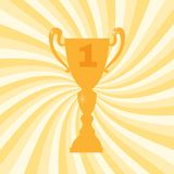Championship winner trophy cup for first place. Vector illustration Royalty Free Stock Photos